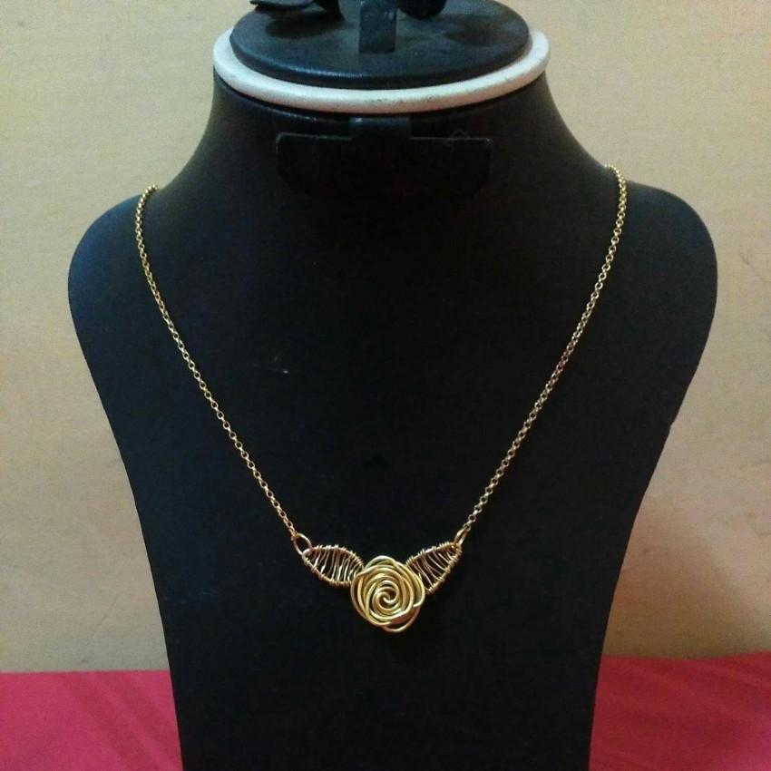 Beautiful Rose Pendant (Copper Wire)