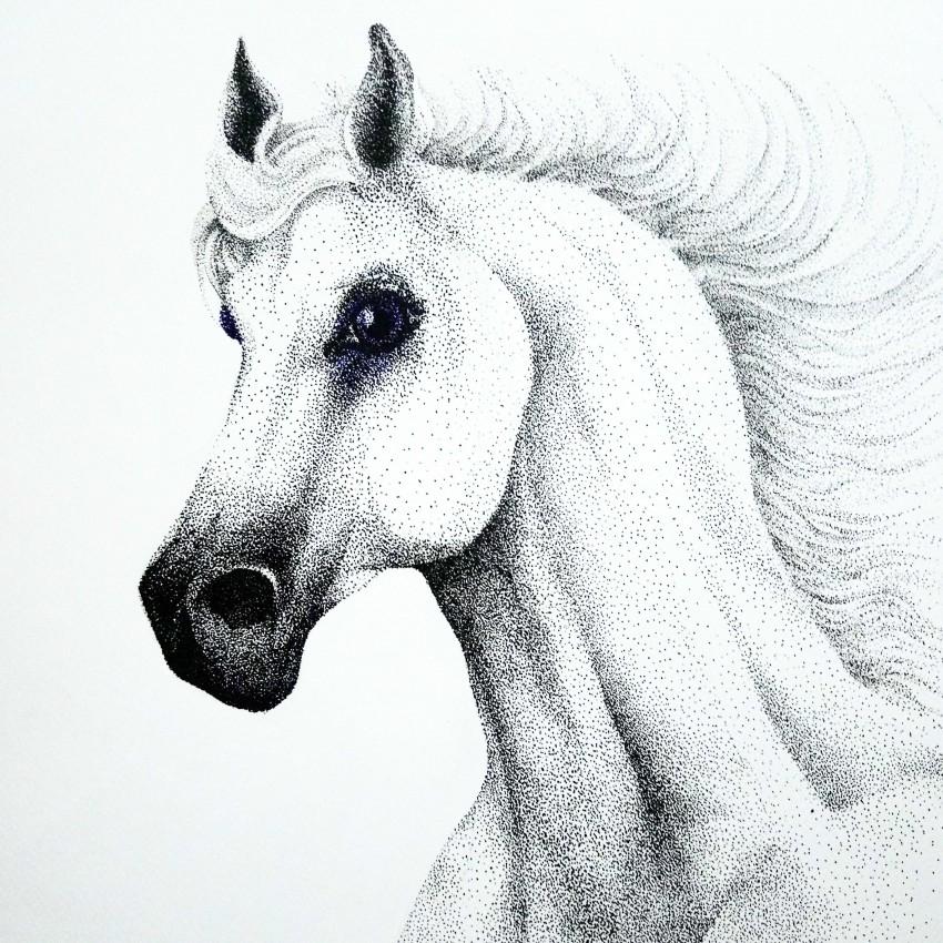 حصان تنقيط حبر