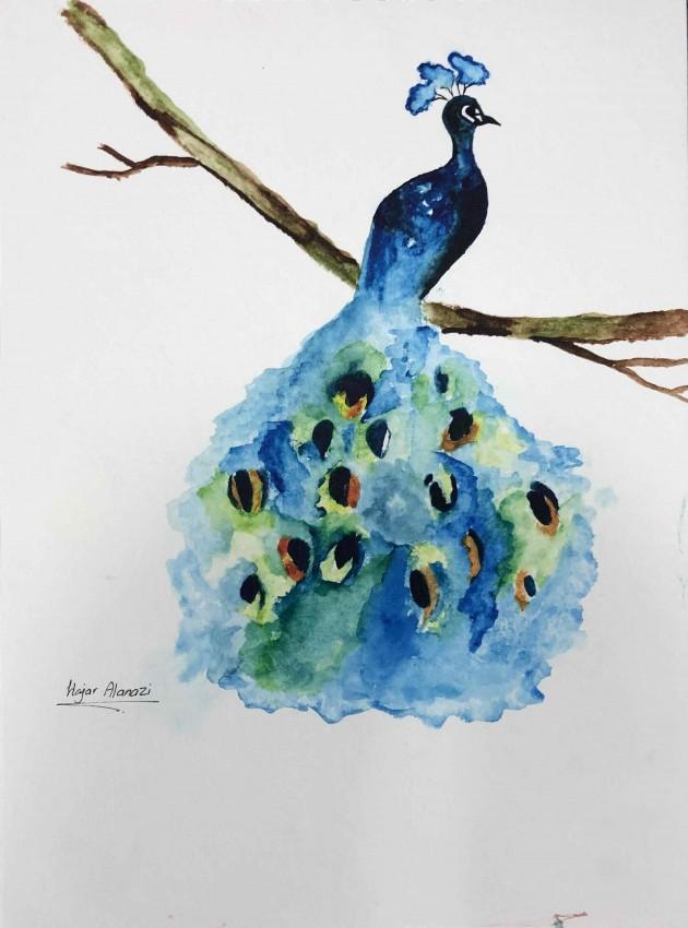 الطاووس الازرق