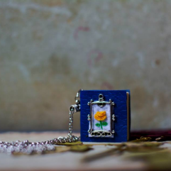 Rose Book Necklace (Embroidery)