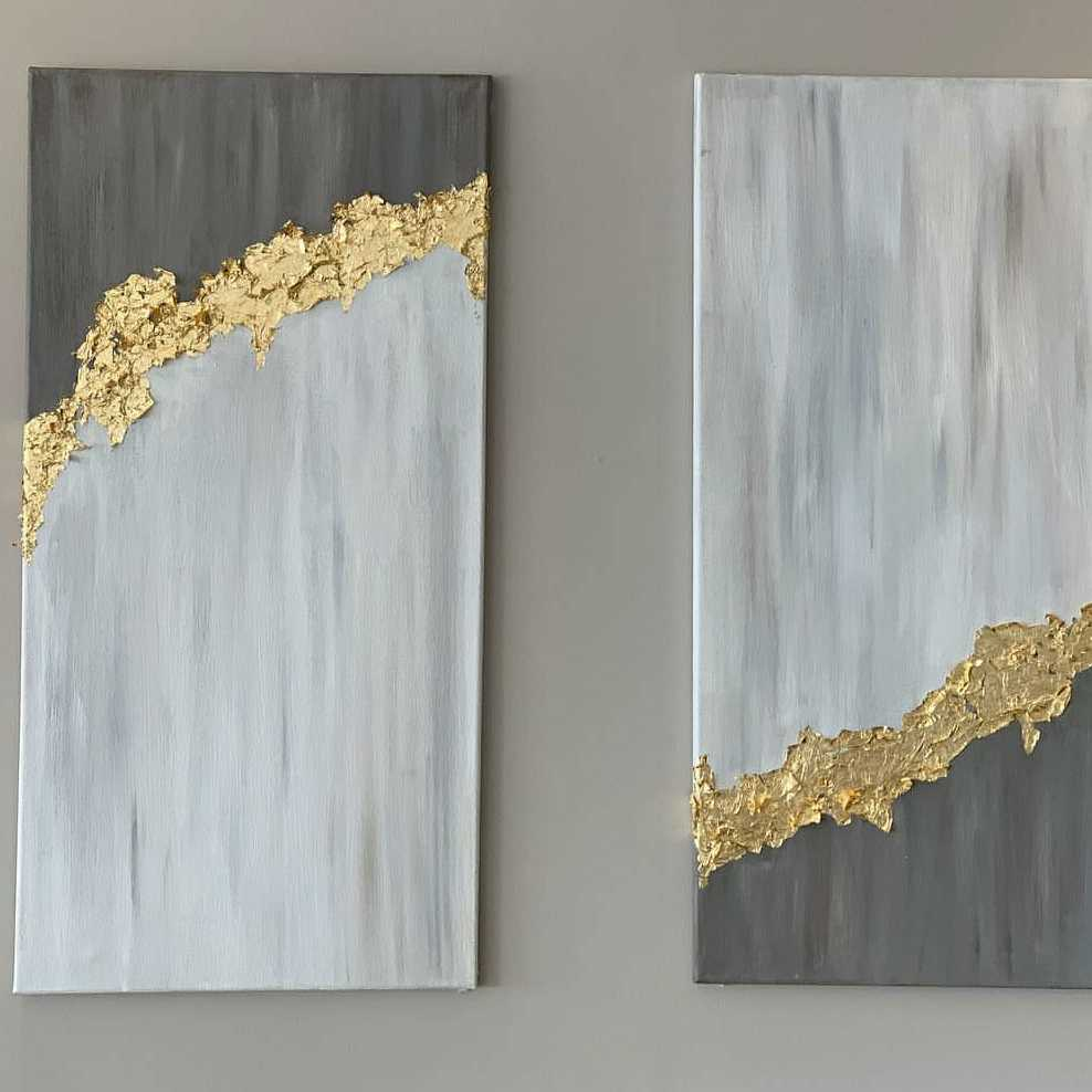 Abstract Art 9 (With Gold Leafs)