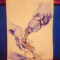 الايدي والماء