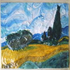 (حقل القمح و شجر الصنوبر (فان جوخ