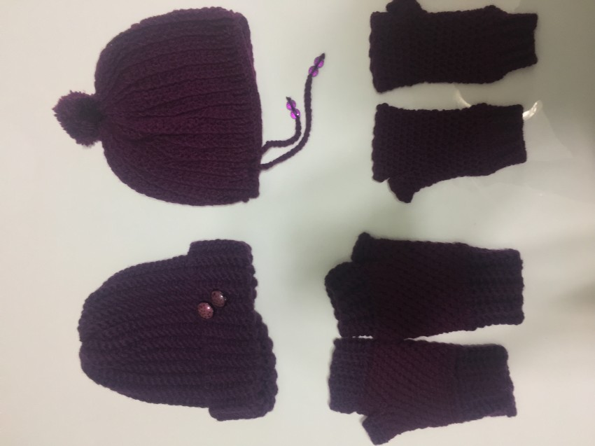 Wool Cap & Gloves Sets