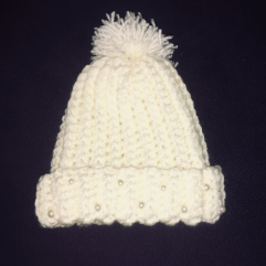 Decorated Wool Cap
