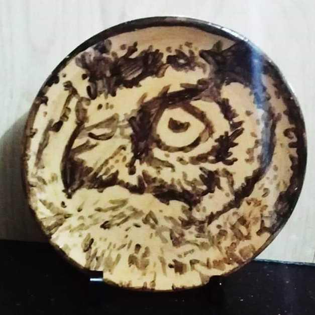 (البومة  (فن السيراميك