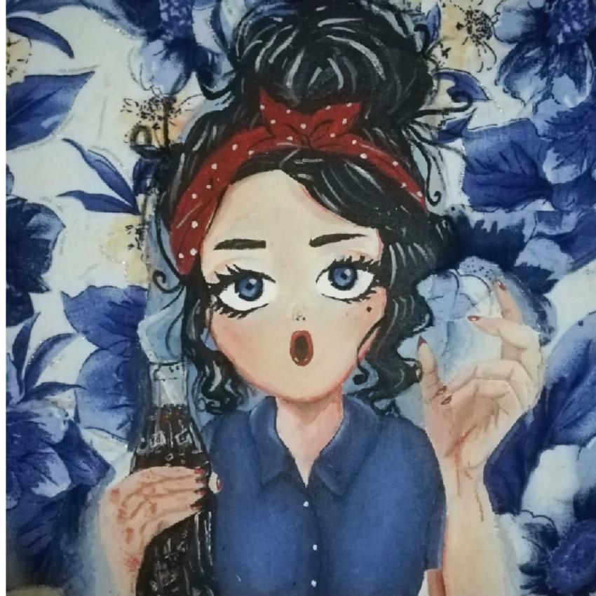 الزهور الزرقاء