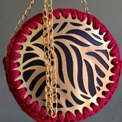Bag With Gold Colored Frame