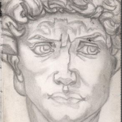 David Sculpture Drawing