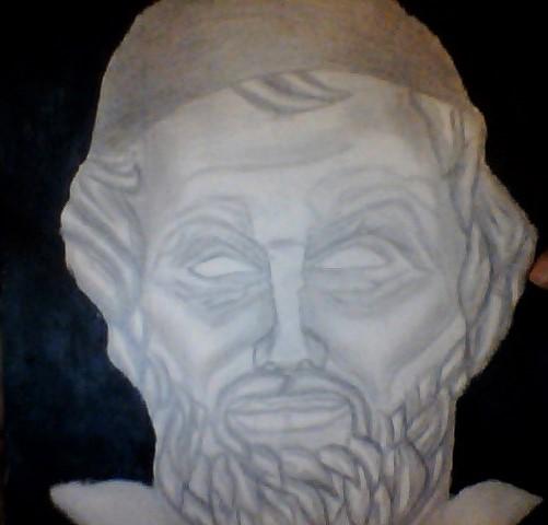 رسم التمثال