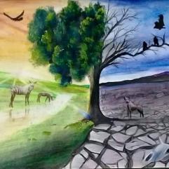 لوحة رائعة لمنظر طبيعى 4