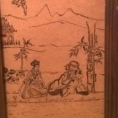 Japanese Drawing 1 (Wood Burning)
