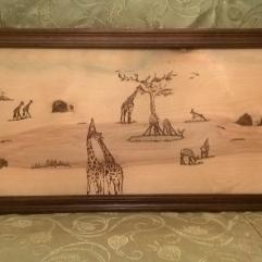 Giraffe (Wood Burning)
