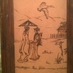 Japanese Drawing 2 (Wood Burning)