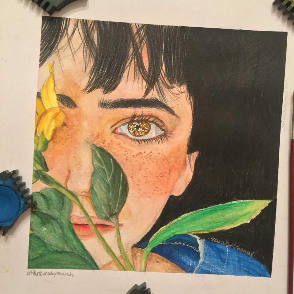 الفتاة و اوراق الشجر