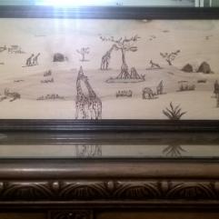 Giraffe (Burning On Wood)