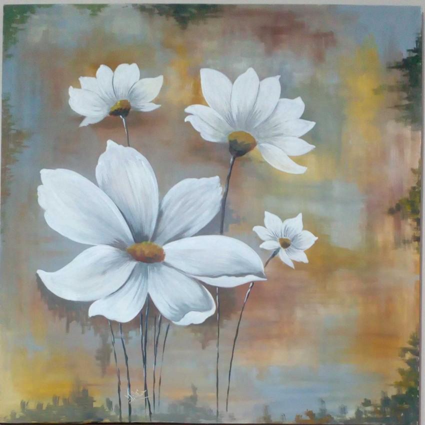 الزهور البيضاء