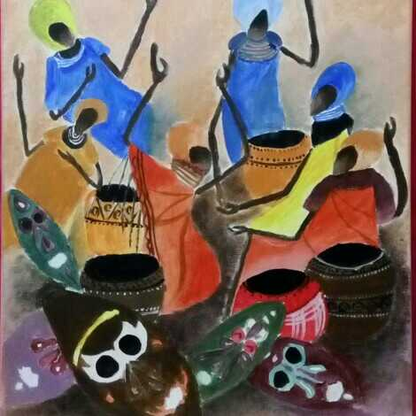Abstract African Figures