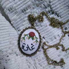 Handmade embroidery necklace