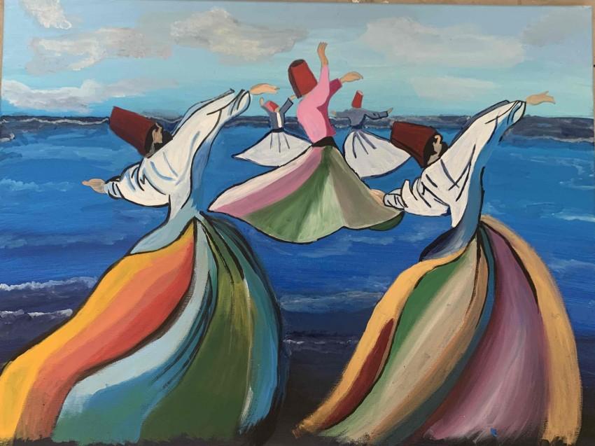 رقص التنوره علي البحر