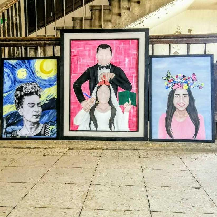مجموعة لوحات زيتيه