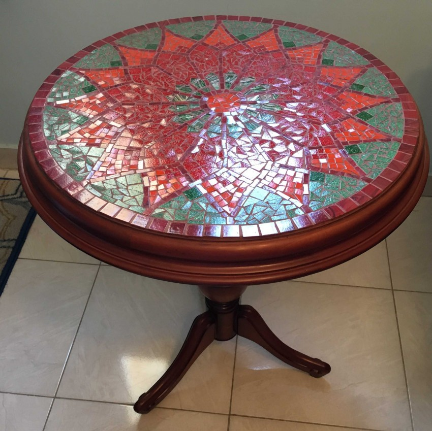 Beechwood Mosaic Table
