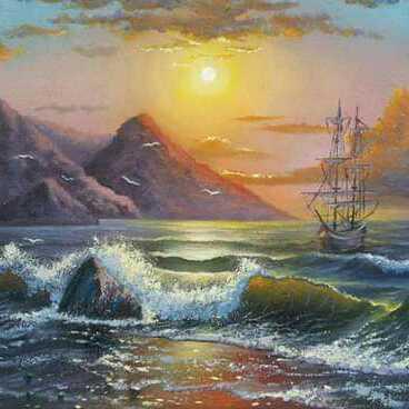 منظر طبيعي للبحر ١