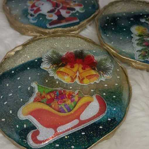 Christmas Coasters (Resin)