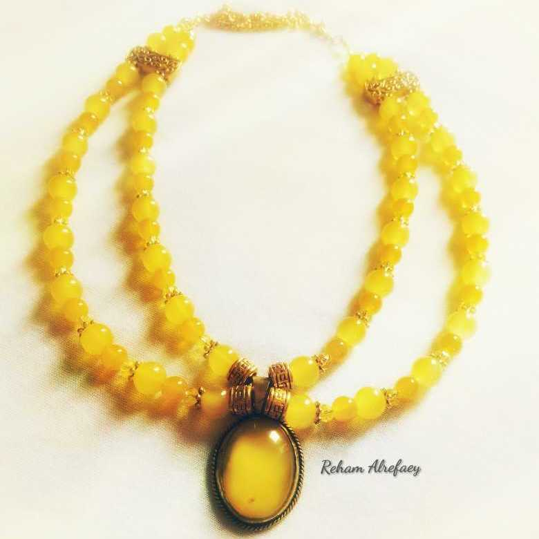 Yellow Alabaster Necklace