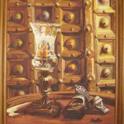 لوحة الشمعدان والقبقاب