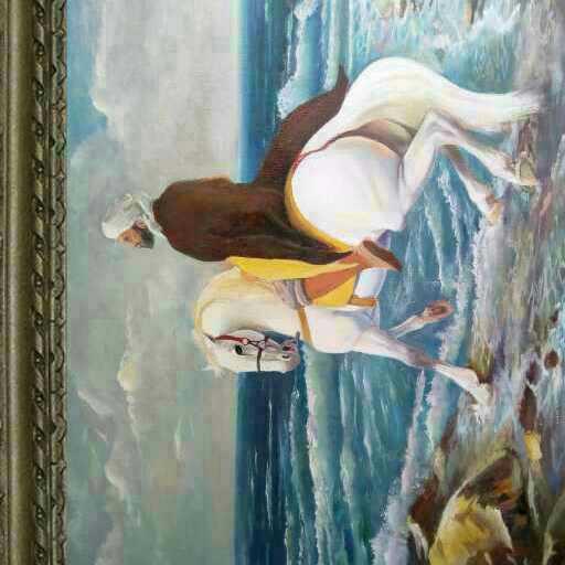 البحر والحصان الابيض