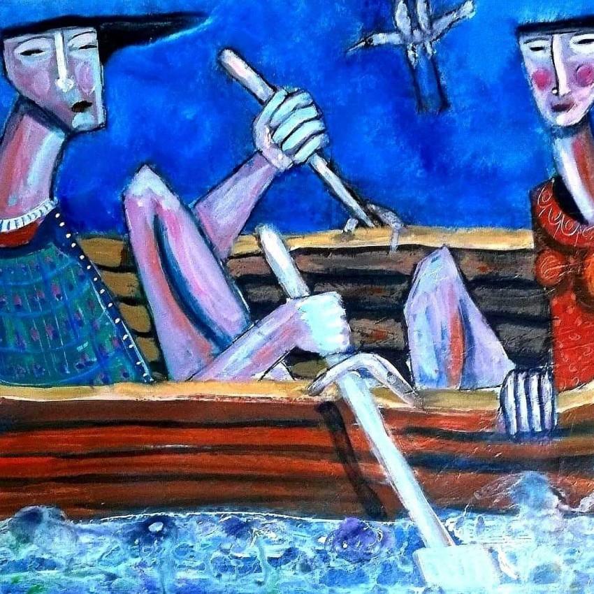 رحلة داخل قارب صغير