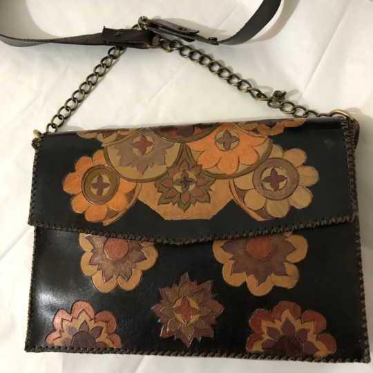 Floral Genuine Leather Bag