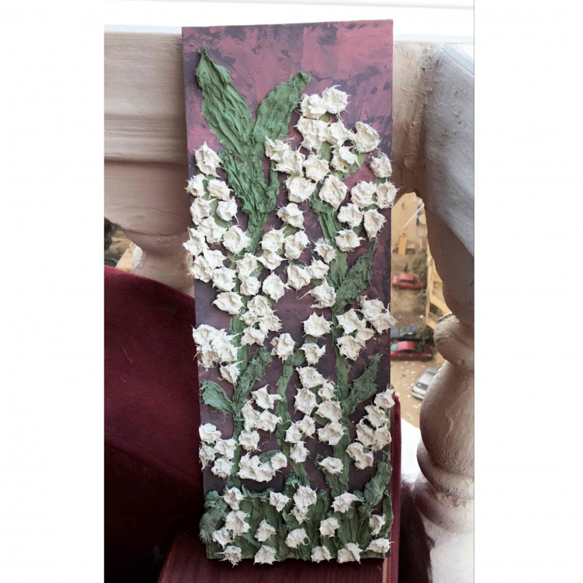 Engraved White Flowers