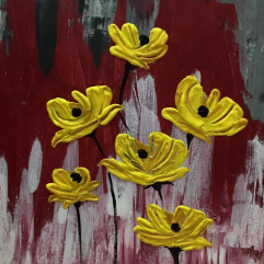 الزهور الصفراء
