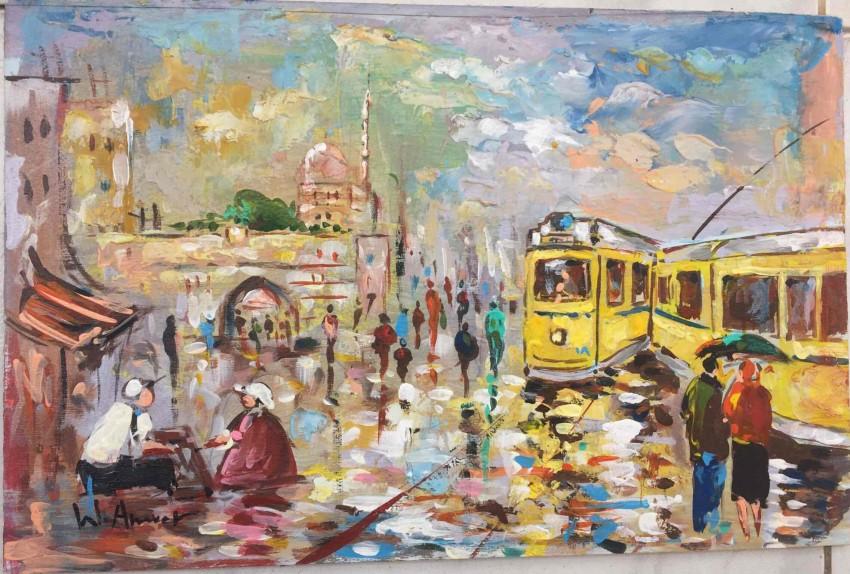 الترام الأصفر بالاسكندرية - حي بحري