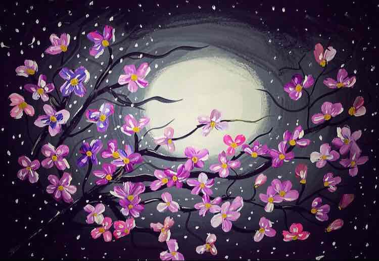 زهور القمر