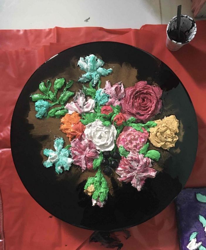 زهور نحت ٤