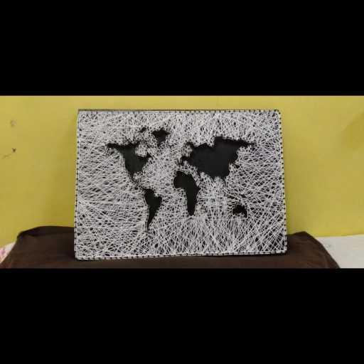 World Map (String Art)
