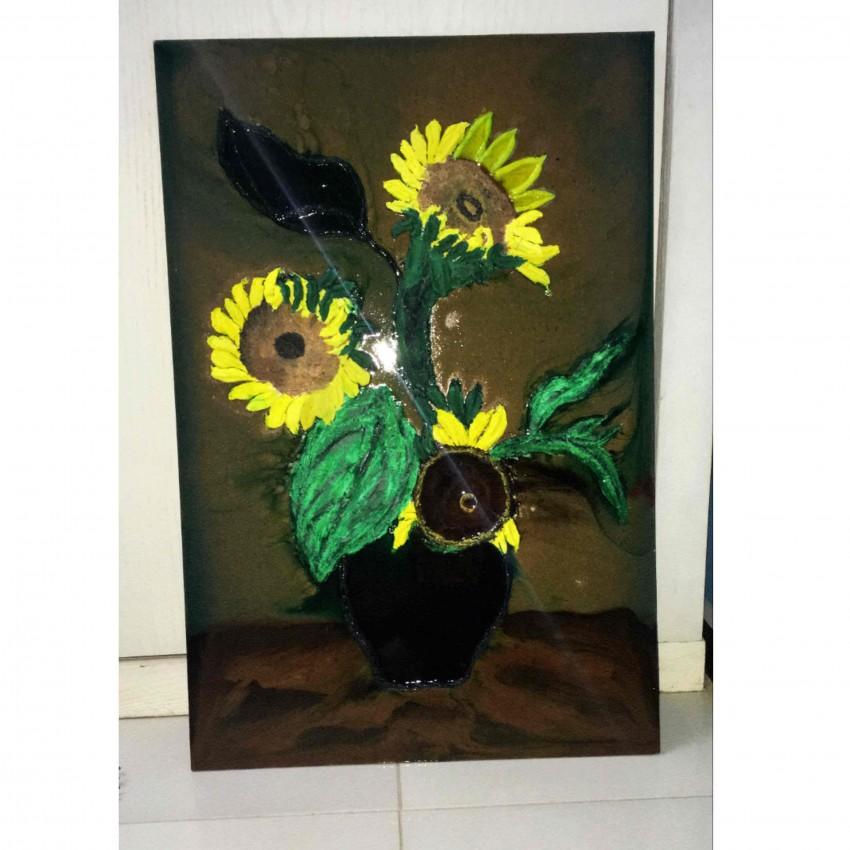 (زهور عباد الشمس (حفر بالريزن