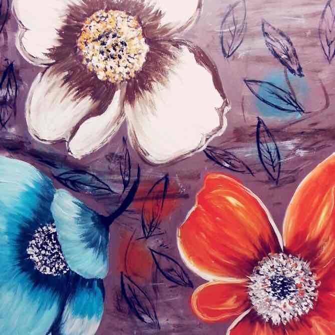 زهور مبهجة