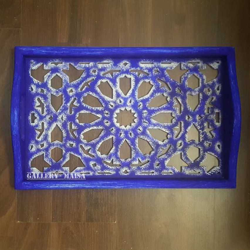صينية تقديم خشبيه مفرغة (اسلامى