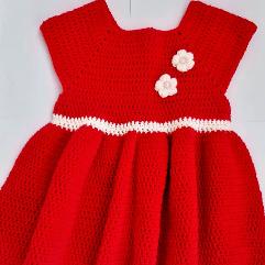 فستان كروشيه للاطفال