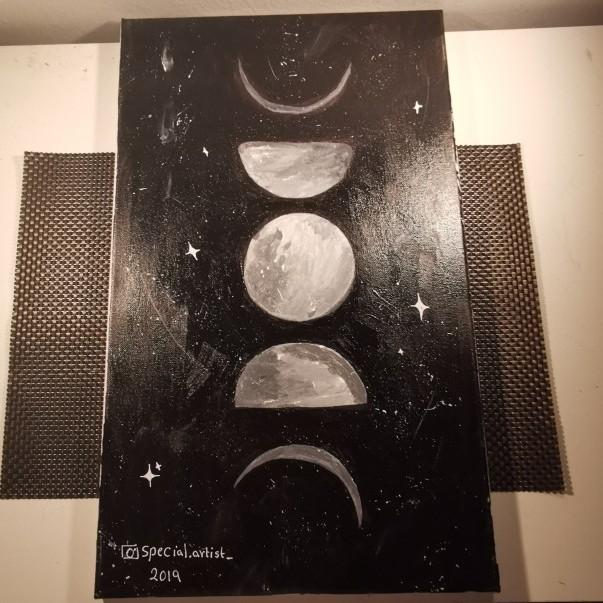 اطوار القمر 🌚