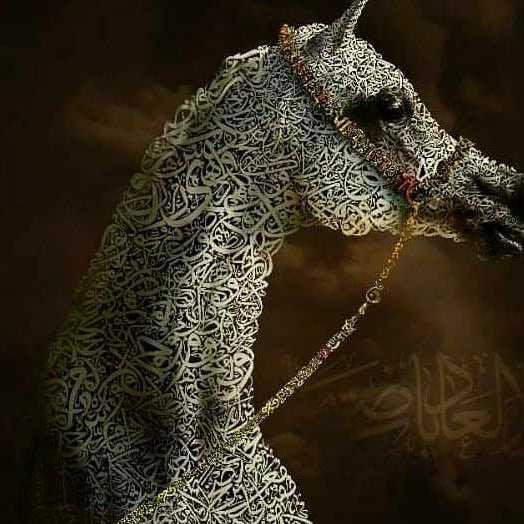 Arabian Horse Poetry Calligraphy