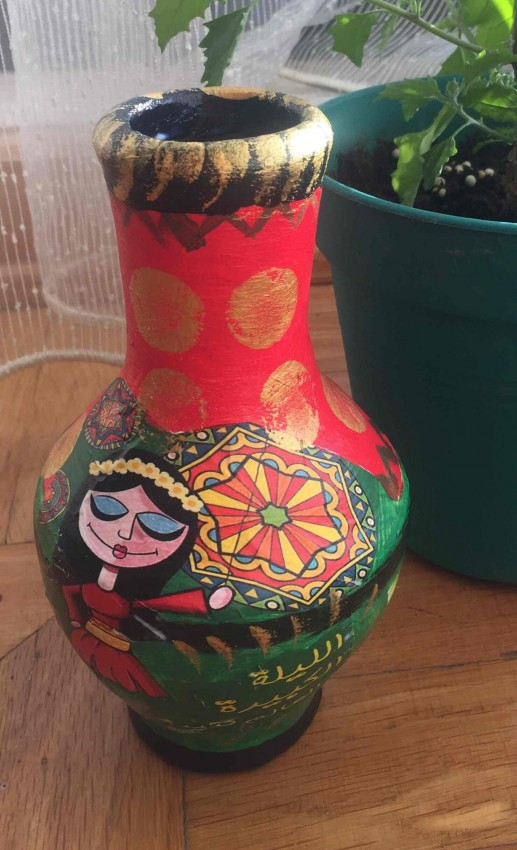 Decoupage On Clay Pot 2