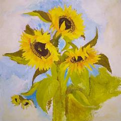 لوحة عباد الشمس