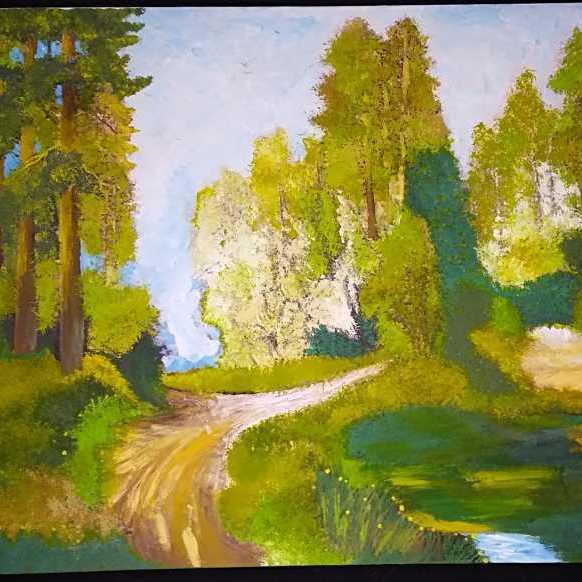 لوحة الغابة