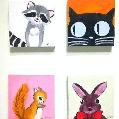 مجموعة من أربعة لوحات