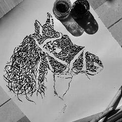 Horse In Arabic Calligraphy